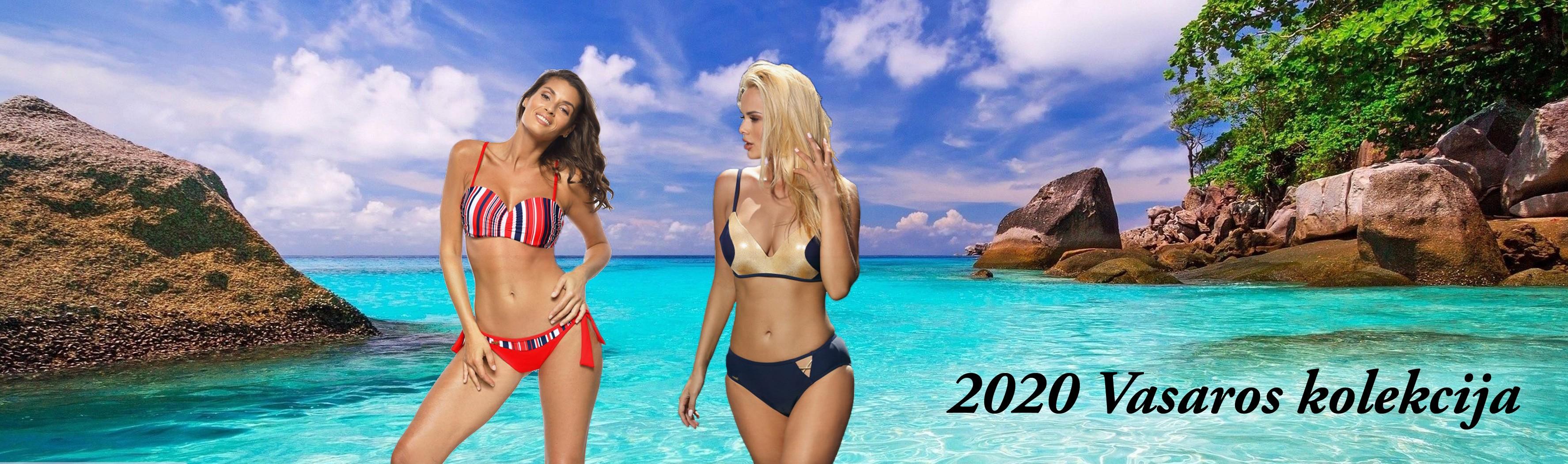 2020 vasaros maudymosi kostiumėlių kolekcija.